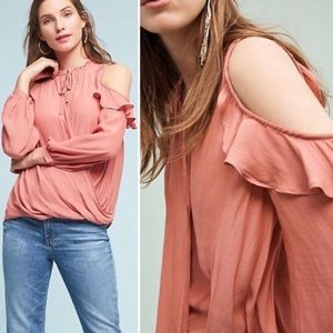 Anthropologie Maeve Liesel Cold Shoulder